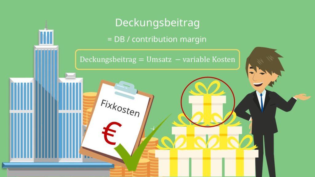 Deckungsbeitrag Definition Contribution Margin Umsatz variable Kosten