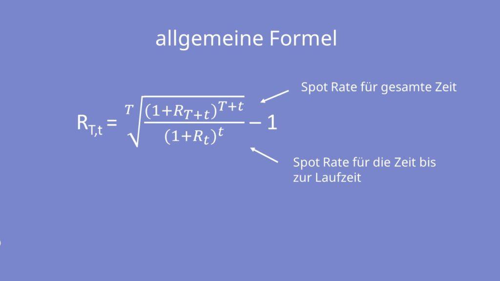 Spot Rate Formel