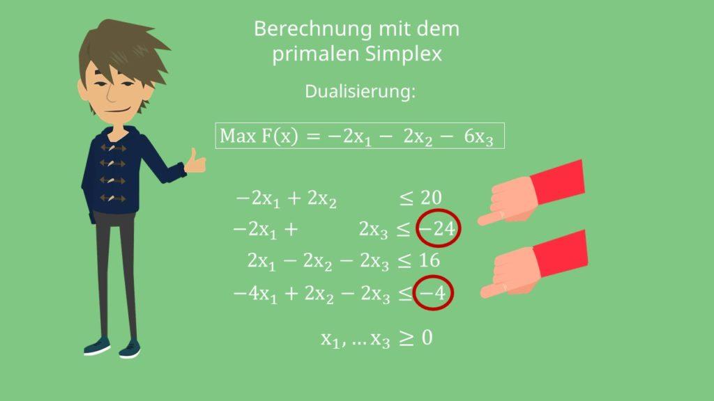 Gleichungssystem dualisieren