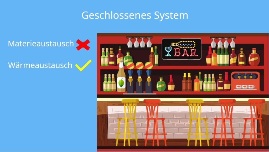 Geschlossenes System, Offenes System, Abgeschlossenes System, Thermodynamische Systeme