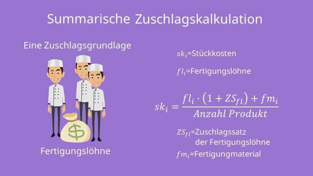 Summarische Zuschlagskalkulation