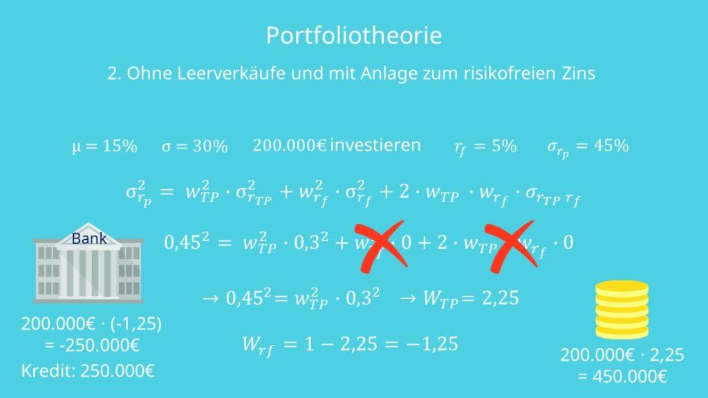 Portfoliotheorie 2. Szenario Beispiel