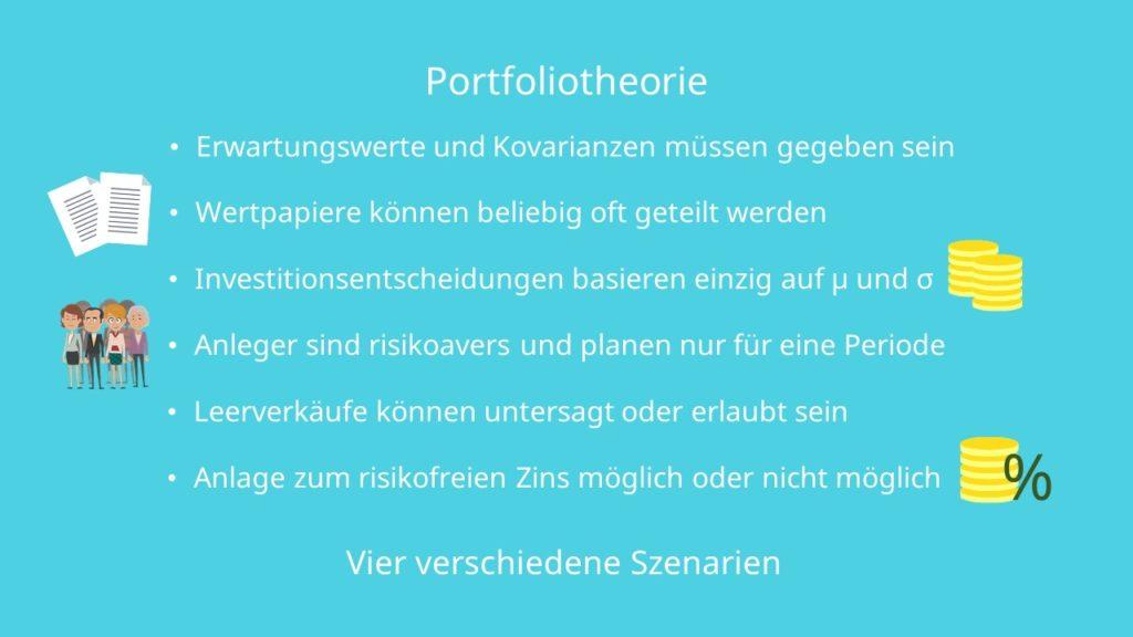 Portfoliotheorie Annahmen