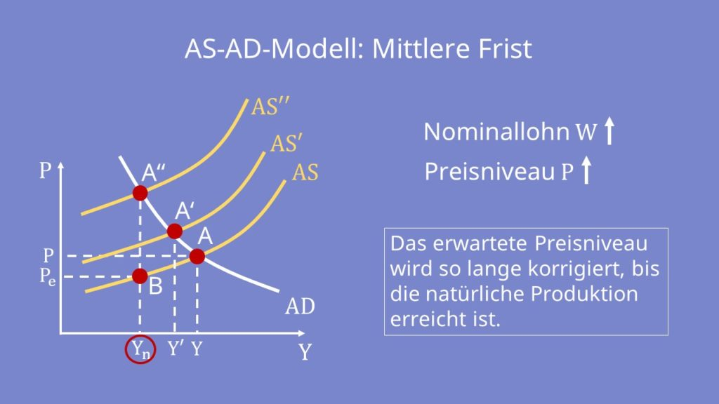 AS-AD-Modell: Mittlere Frist