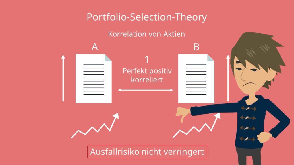 Korrelation Aktien, Portfoliotheorie