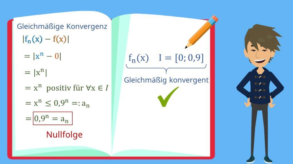 Gleichmäßige Konvergenz Beispiel