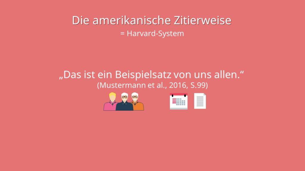 Amerikanische Zitierweise, Harvard Zitierweise, Harvard-Zitation, Zitieren Harvard, Harvard zitieren