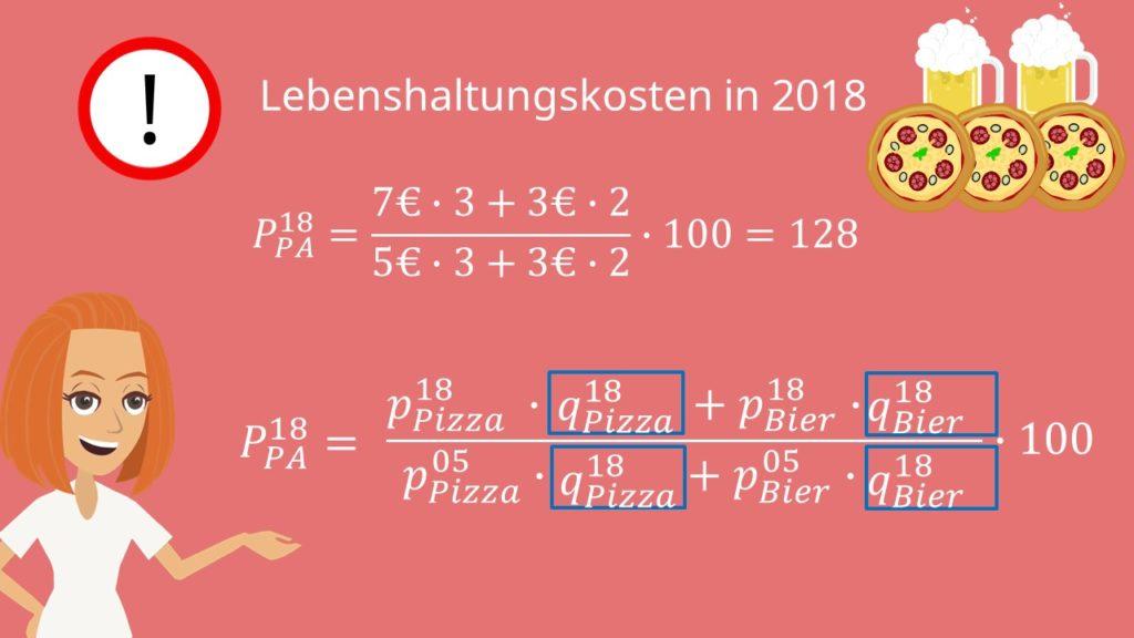 Beispiel zur Berechnung des Paasche Index