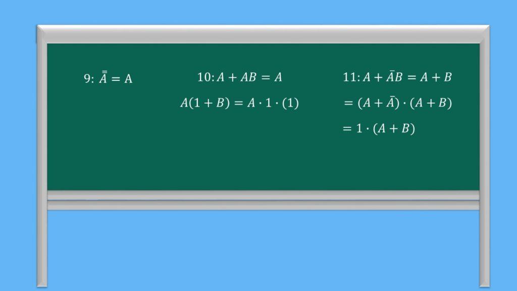 Boolesche Algebra Regeln