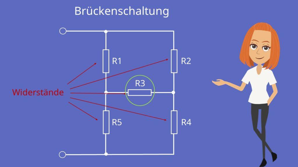 Brückenschaltung, Stern-Dreieck-Schaltung, wheatstone brücke