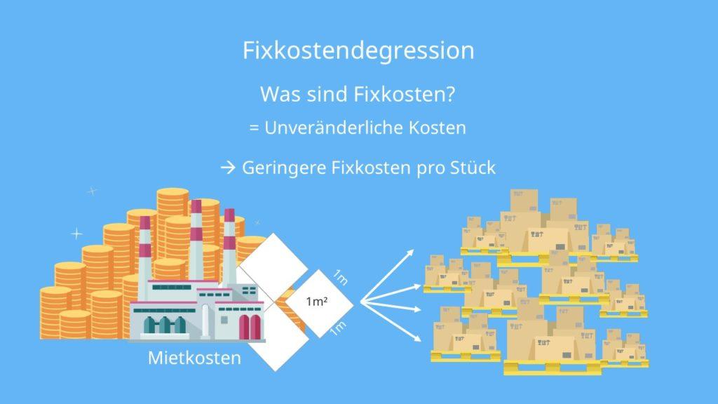 Fixkostendegression Definition