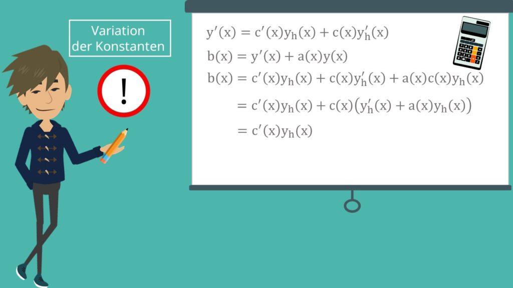 Variation der Konstanten: Gesamtlösung