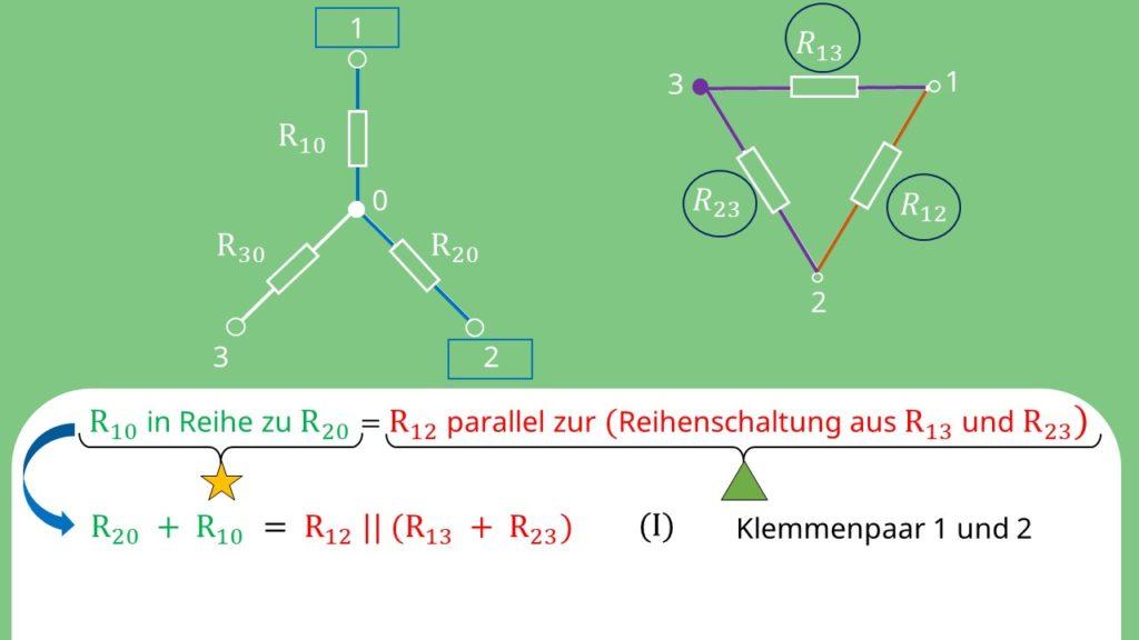 Stern Dreieck Umwandlung, Stern Dreieck Transformation, Widerstand, Dreieck Stern Umwandlung