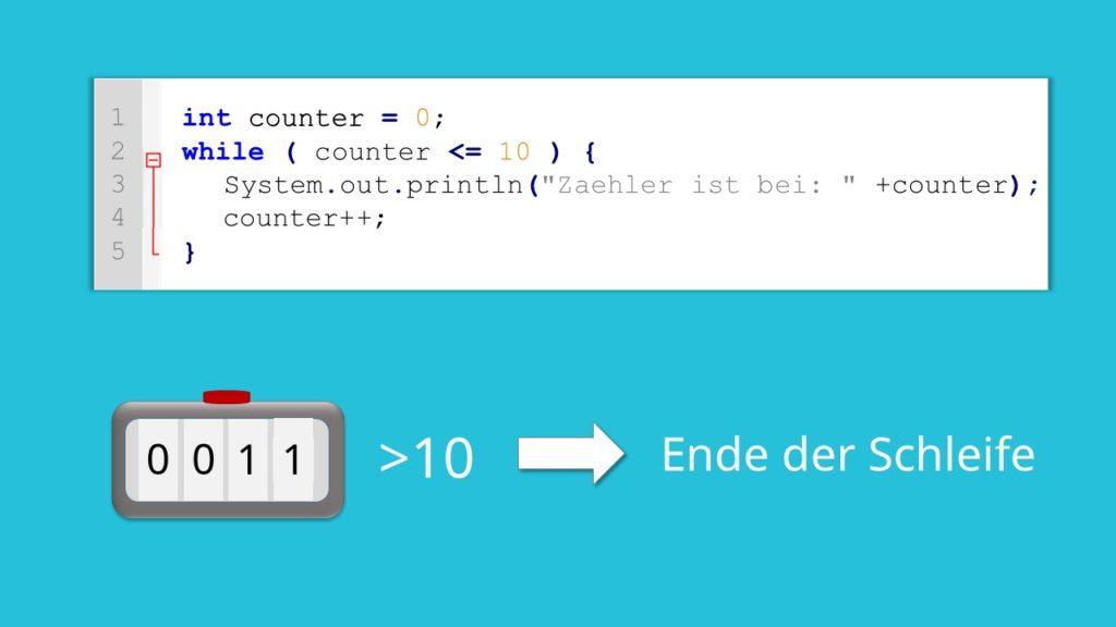 while-Schleife Java, Java Schleifen, Java while