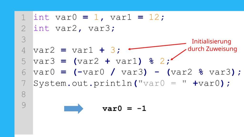 Java Operatoren