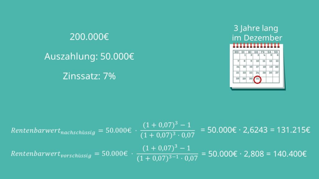 Rentenbarwert, Rentenbarwertfaktor, Rentenbarwert berechnen, Rentenbarwertformel, Rentenbarwert Formel, Rentenbarwert nachschüssig, Rentenbarwert vorschüssig, Rentenbarwert Aufgaben