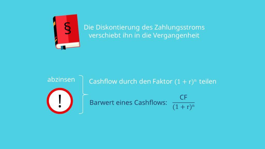 Barwert berechnen, Barwert Formel,