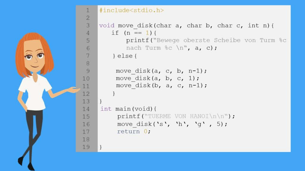Rekursion C, rekursive Funktionen C