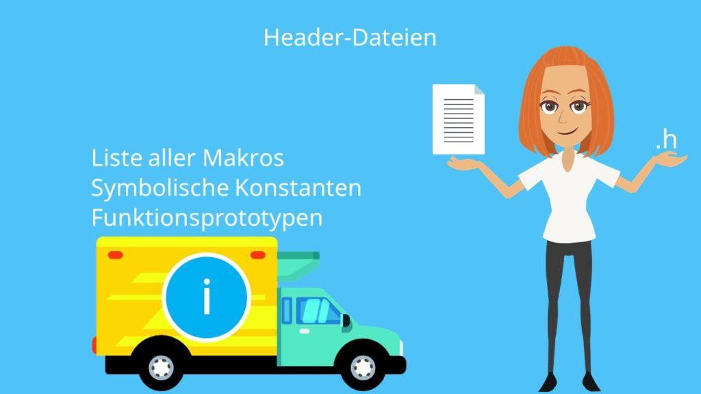 Header-Datei C, Header-Dateien, C Header