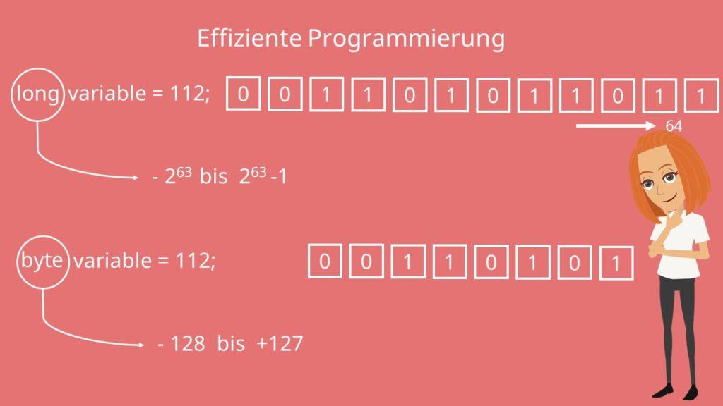 Java Datentypen, Primitive Datentypen Java
