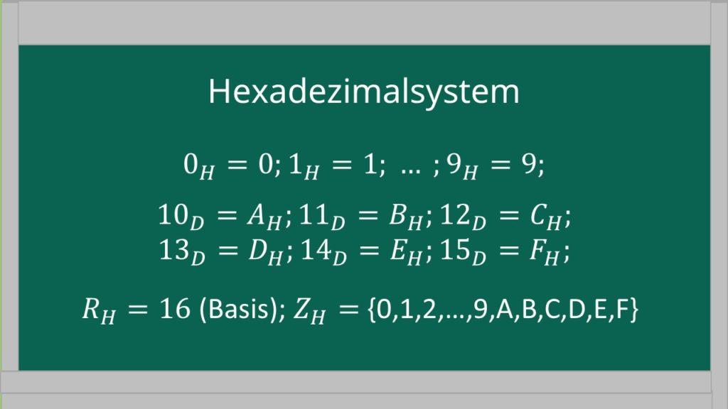 Hexadezimalsystem, Aufbau