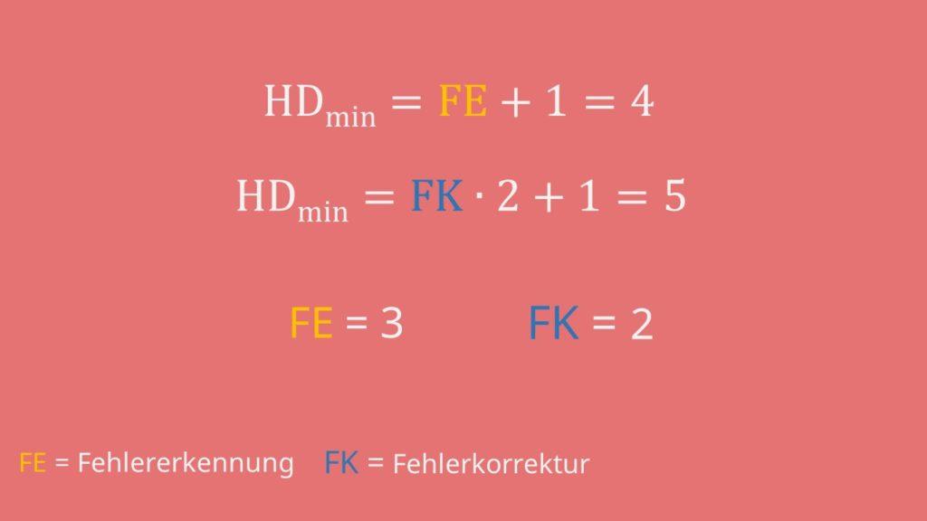 Minimale Hamming-Distanz berechnen