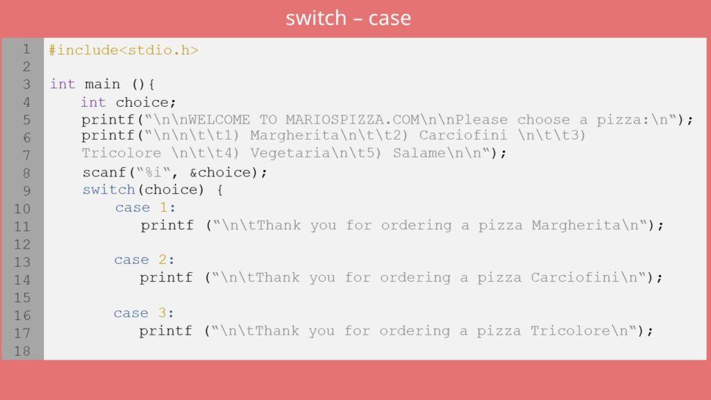switch-case C, switch c