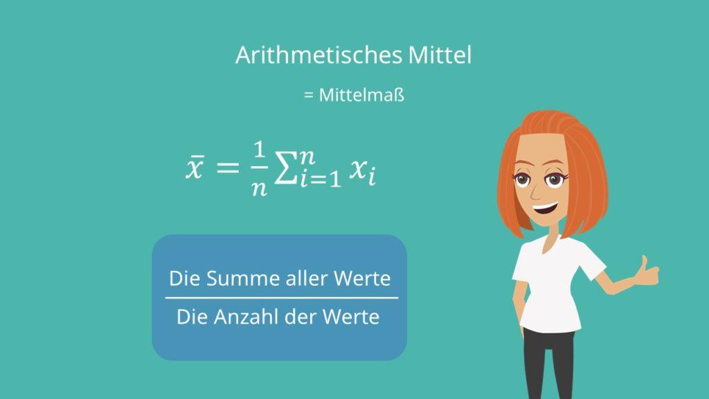 Mittelwert, Median, Median berechnen, Modalwert, Mittelwert berechnen, Arithmetisches Mittel