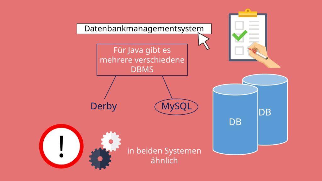 Derby, MySQL, DBMS