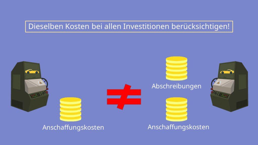 Kosten, Kostenvergleichsrechnung