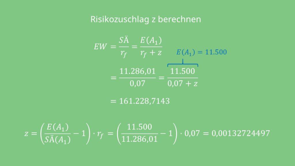 Berechnung Risikozuschlag