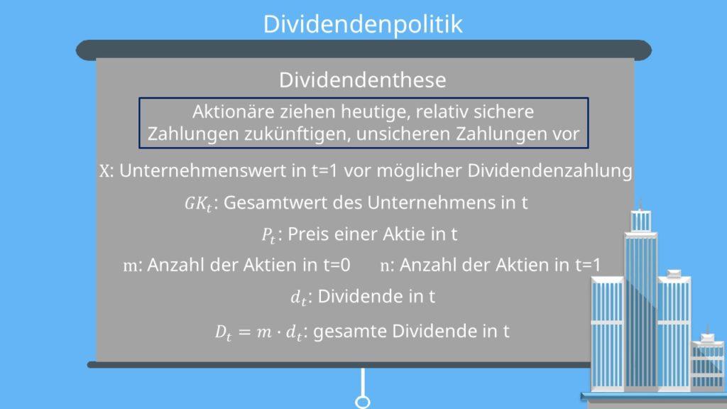 Dividendenthese
