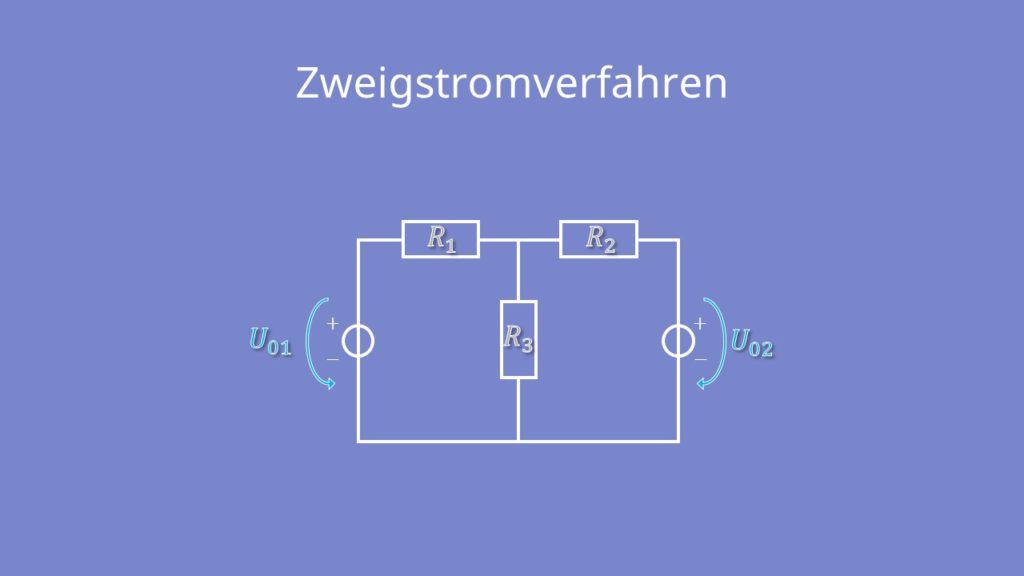 Zweigstromverfahren, Zweigstromanalyse, Widerstand, Spannungsquelle, T Schaltung, Stromquelle