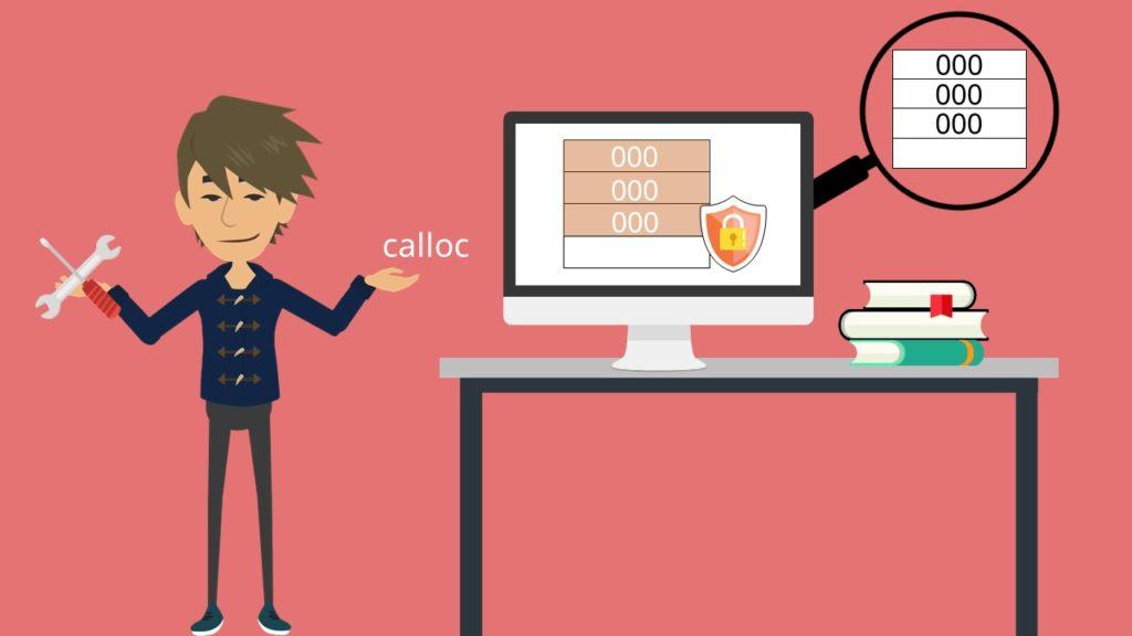 Dynamische Speicherverwaltung, calloc