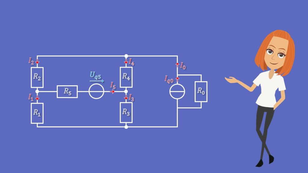 Maschenstromverfahren, Netzwerkanalyse, Maschen, Knotengleichung, Schaltung
