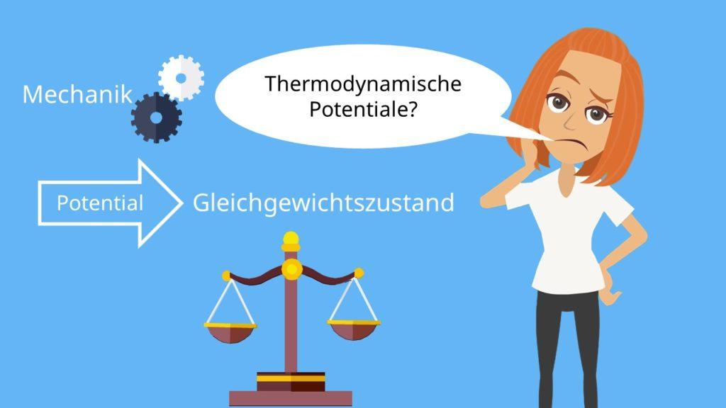 Thermodynamische Potentiale, Stoffliches Gleichgewicht, Thermisches Gleichgewicht