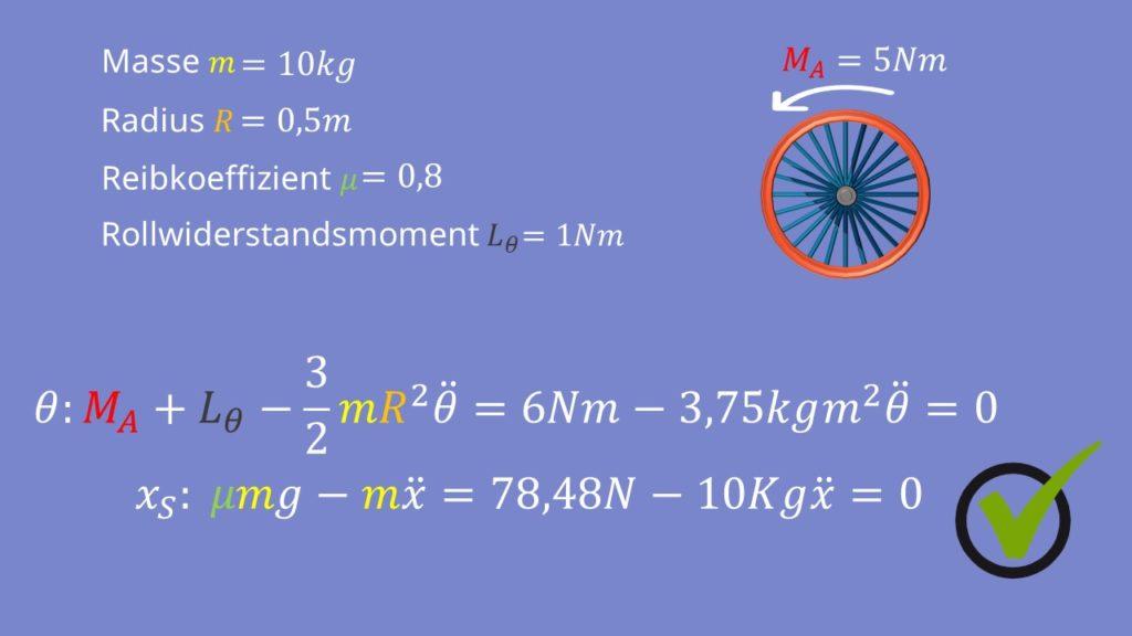 Endergebnis der Berechnung