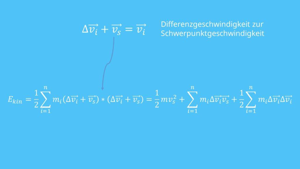 Massenpunktsystem, Geschwindigkeit, Schwerpunkt, kinetische Energie, Energieformen, Masse, Massepunkt
