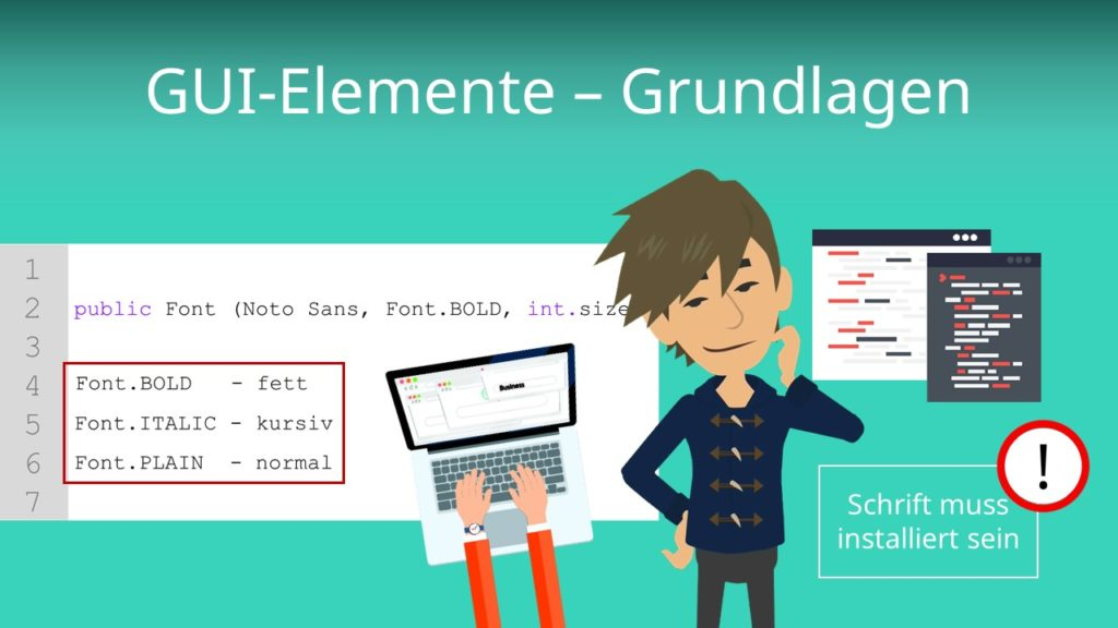 GUI-Elemente - Grundlagen