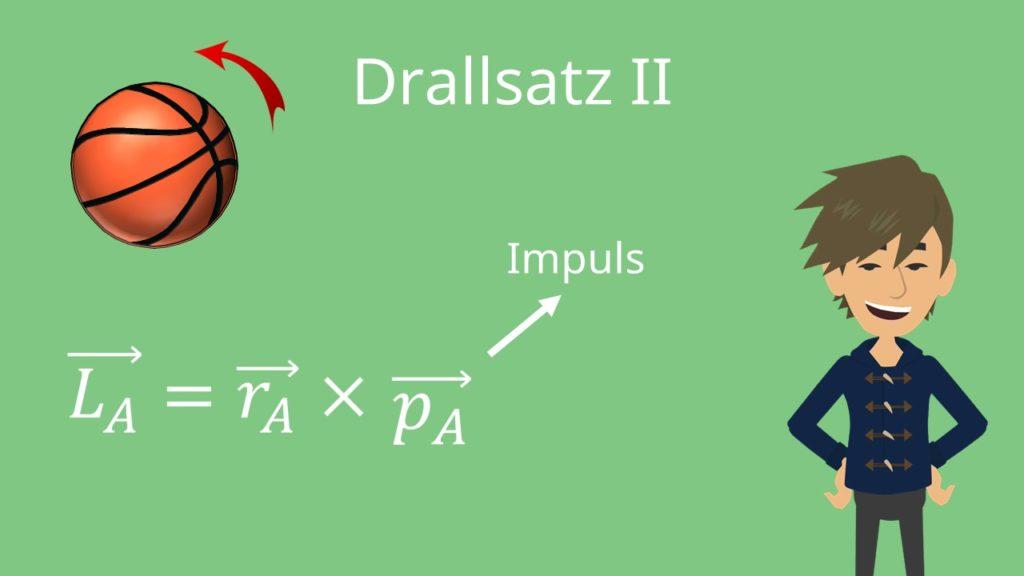 Drallsatz, Aufgaben, Drehimuls, Drehmoment, Rotation, Radius, Schwerpunkt
