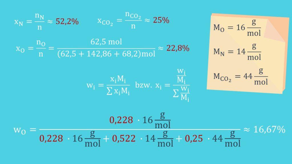 Gemische, Stoffmengenanteil, Massenanteil, Materie, Stoffmenge