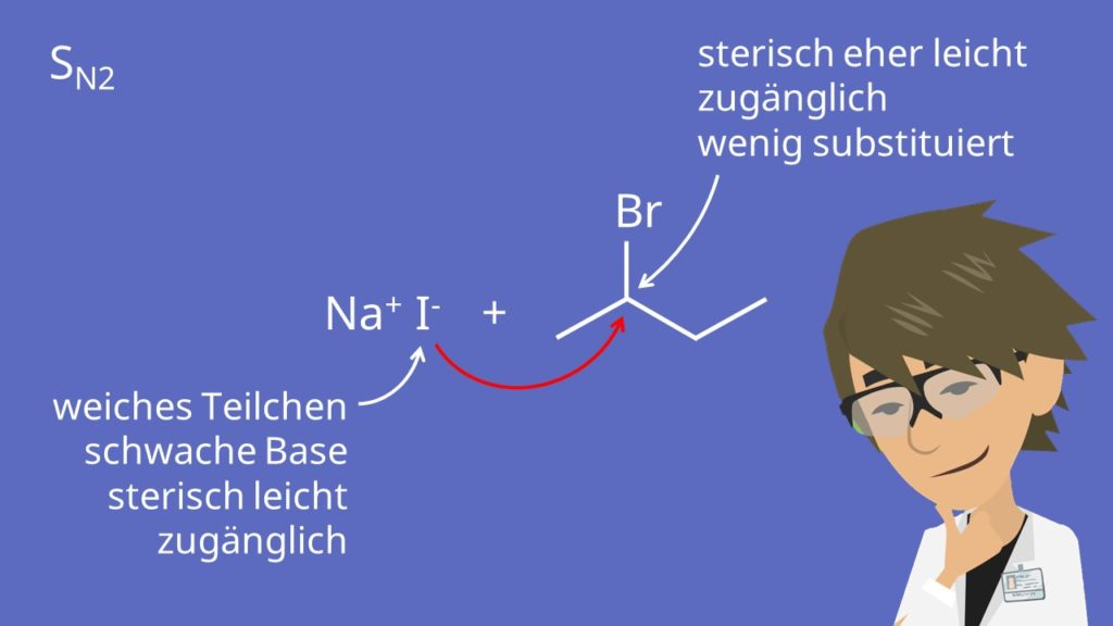 2-Brom-butan mit Natriumiodid