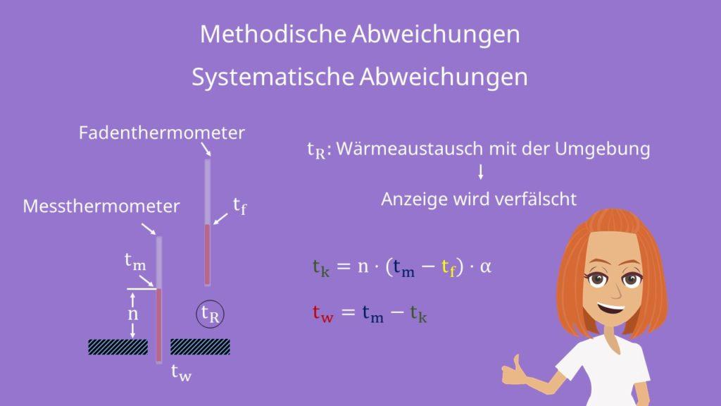 Methodische Abweichungen