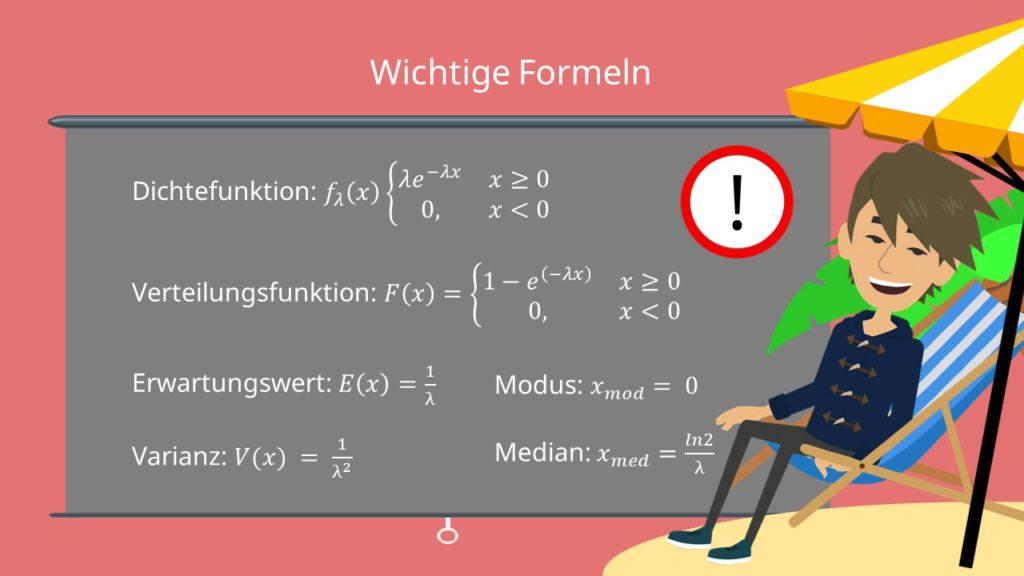 Exponentialverteilung, Exponentialverteilung Erwartungswert, Exponentialverteilung Varianz, Exponentialverteilung Formel