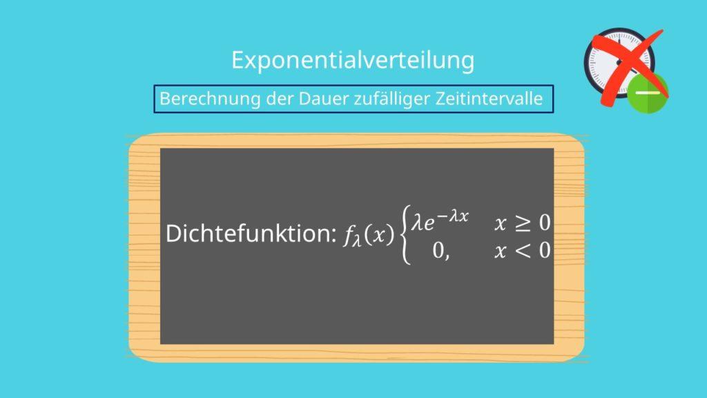 Dichtefunktion Exponentialverteilung