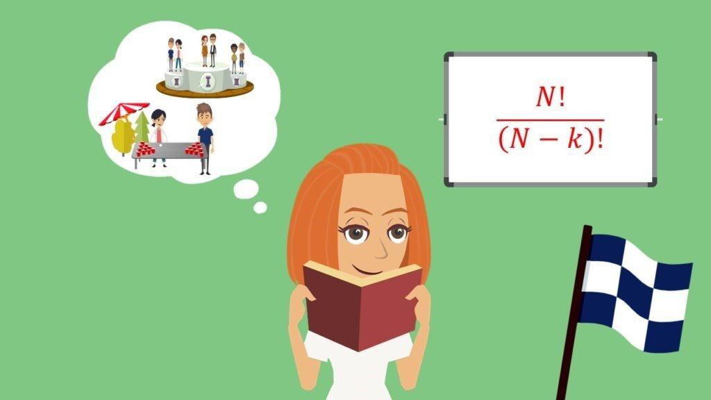 Ziehen ohne zurücklegen mit Reihenfolge: Formel Anzahl Möglichkeiten