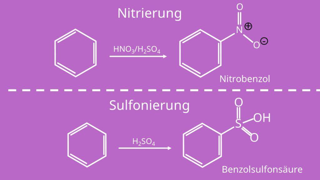 Nitrierung Sulfonierung