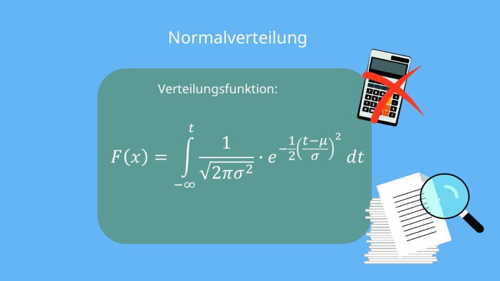 Normalverteilung verteilungsfunktion, Normalverteilung Formel, Normalverteilung