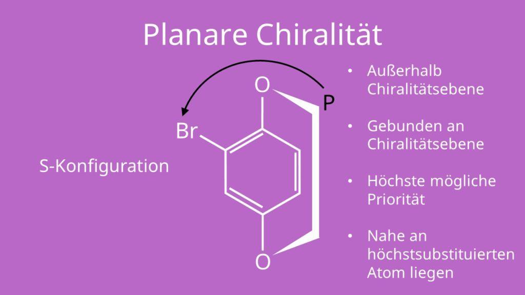 Planare Chiralität, Brom, aliphatische Kohlenwasserstoffe, chiral, achiral
