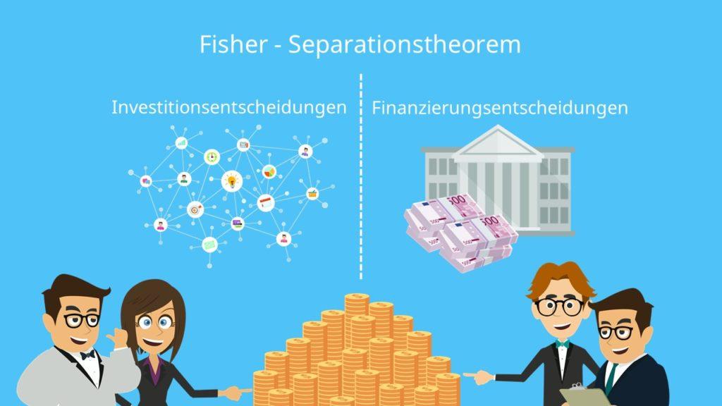 Fisher-Seperationstheorem, Fisher Seperation, Investitionsentscheidungen Finanzierungsentscheidungen